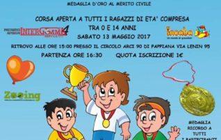 13 maggio 2017 ore 16:30, Baby Run Memorial D.M. Verdigi