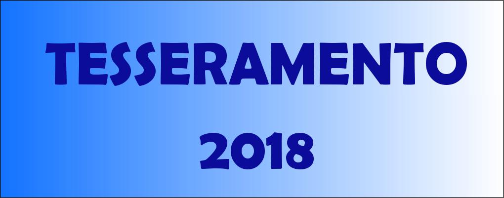 Tesseramento stagione sportiva 2018
